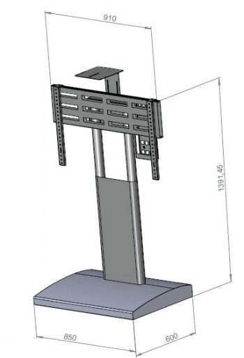 Floor Stand Video Conferance Stand With Wheels Lhp1 130