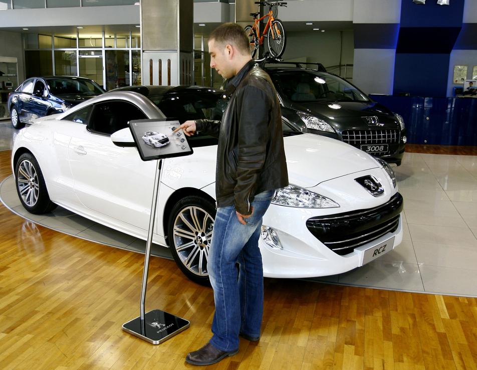 Floor Stand Tablet Large Inshop Digital Web - Car show wheel display stands
